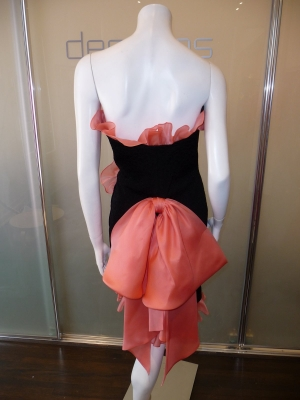 yves-saint-laurent-rive-gauche-black-strapless-dress-with-peach-organza-trim-and-bown-c-80s-modern-6-3